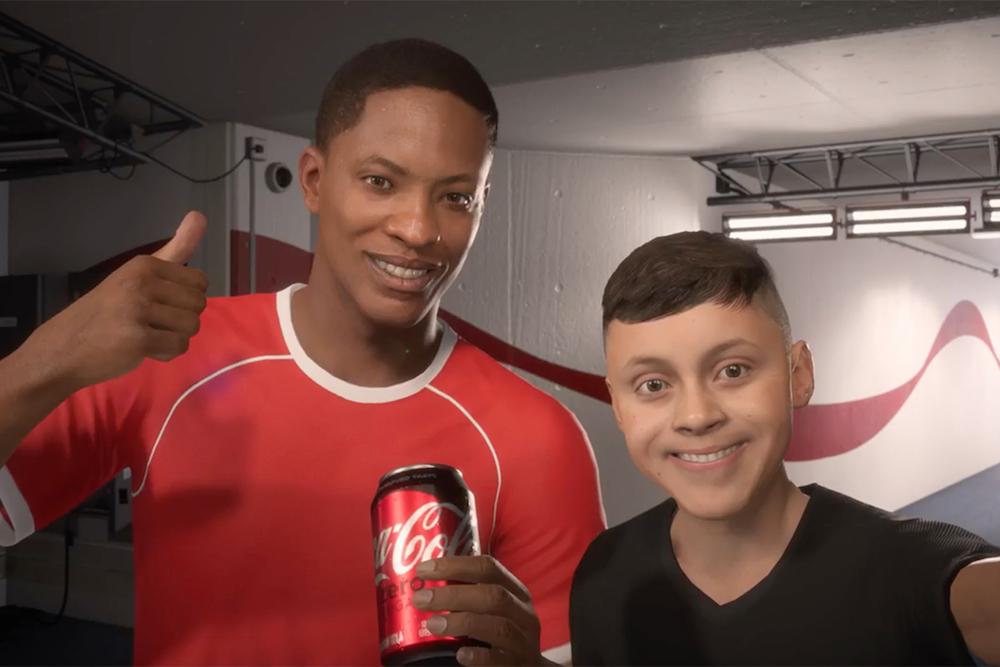 Coca-Cola sponzoruje fotbalového hráče, který existuje jen v digitálním světě