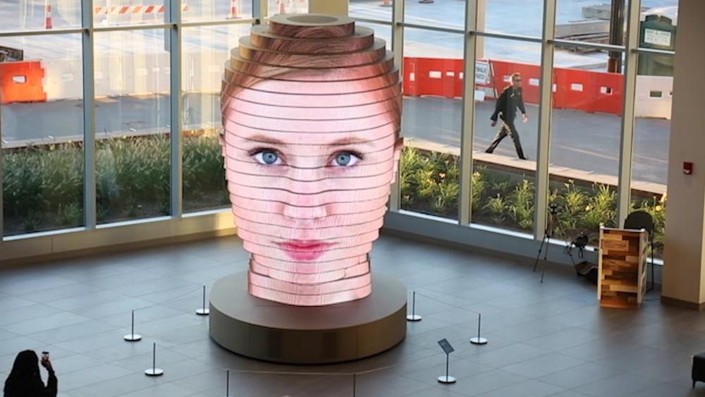 Socha, která dokáže vytvořit váš vlastní 3D model tváře