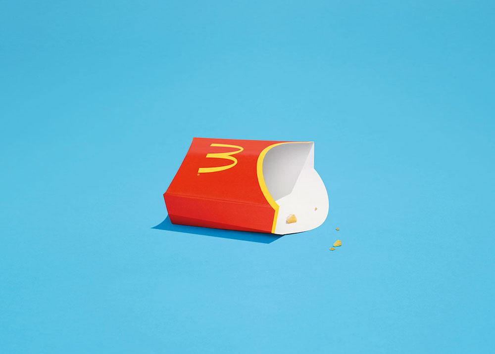 Minimalistická reklama pro McDonald's neobsahuje žádné jídlo