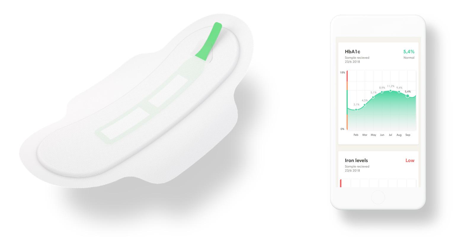 Menstruační vložka Q Pad funguje i jako diagnostický nástroj