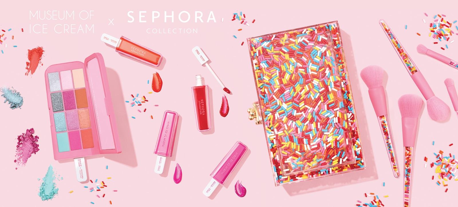 Sephora a Museum of Ice Cream nabízejí společnou kolekci makeupu