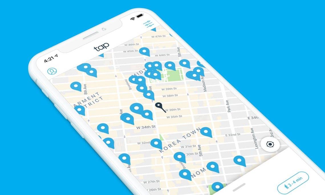 Aplikace Tap informuje uživatele o místech, kde si mohou láhev doplnit vodou