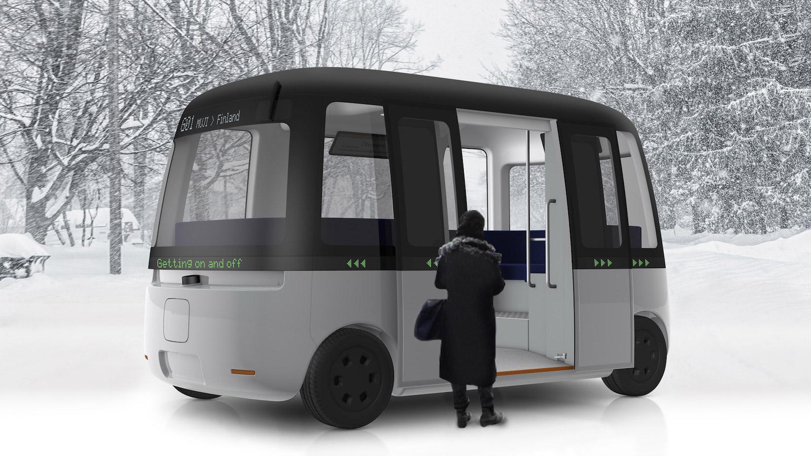 Značka Muji navrhla autonomní autobus Gacha do každého počasí