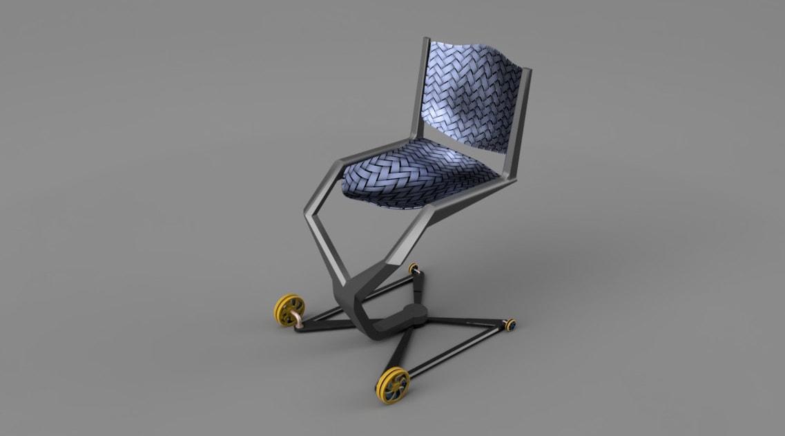Studenti navrhli invalidní vozík Air Chair pro cestování letadlem