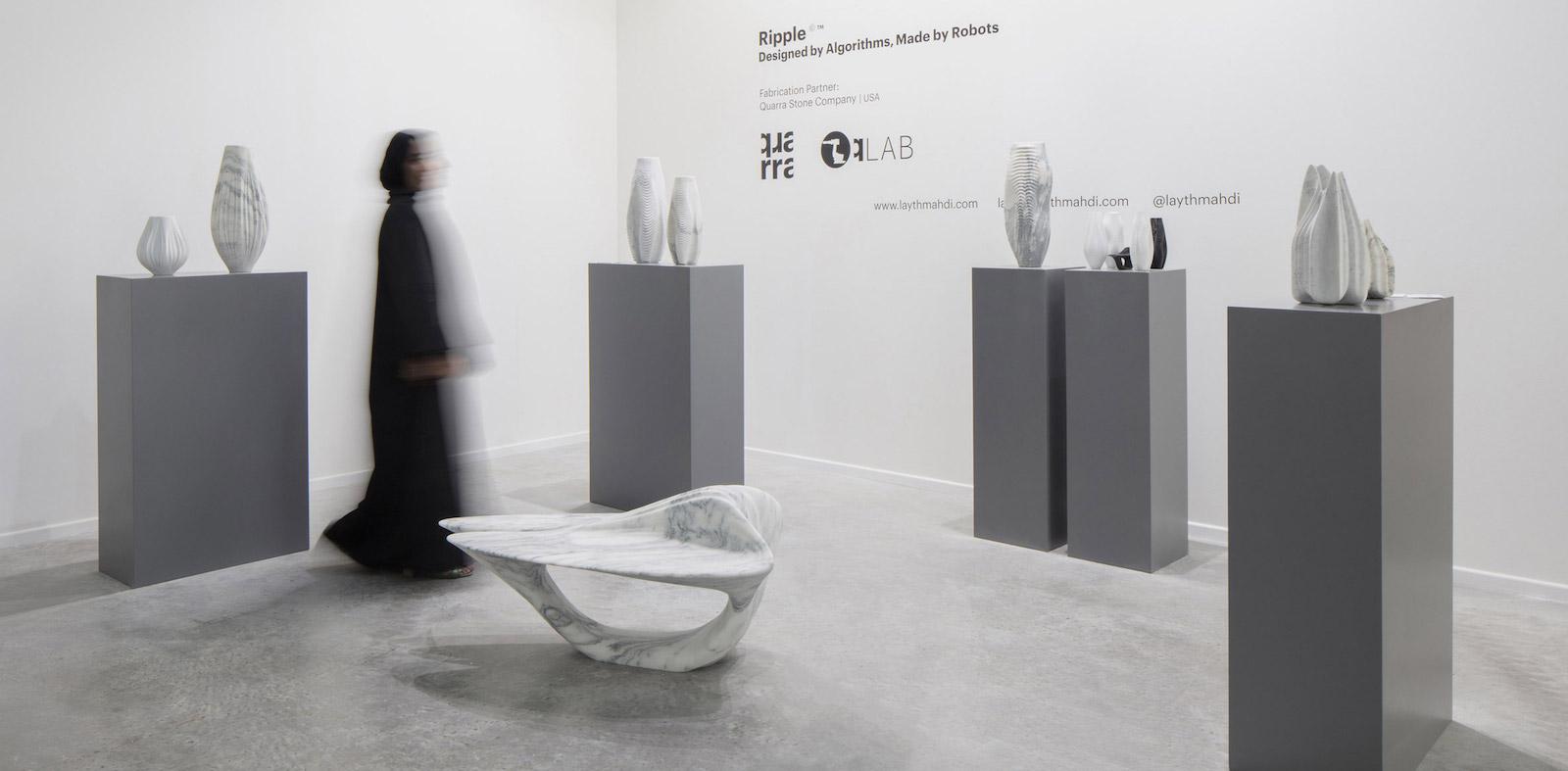 Mramorová kolekce Ripple byla navržena pomocí strojově řízeného designu