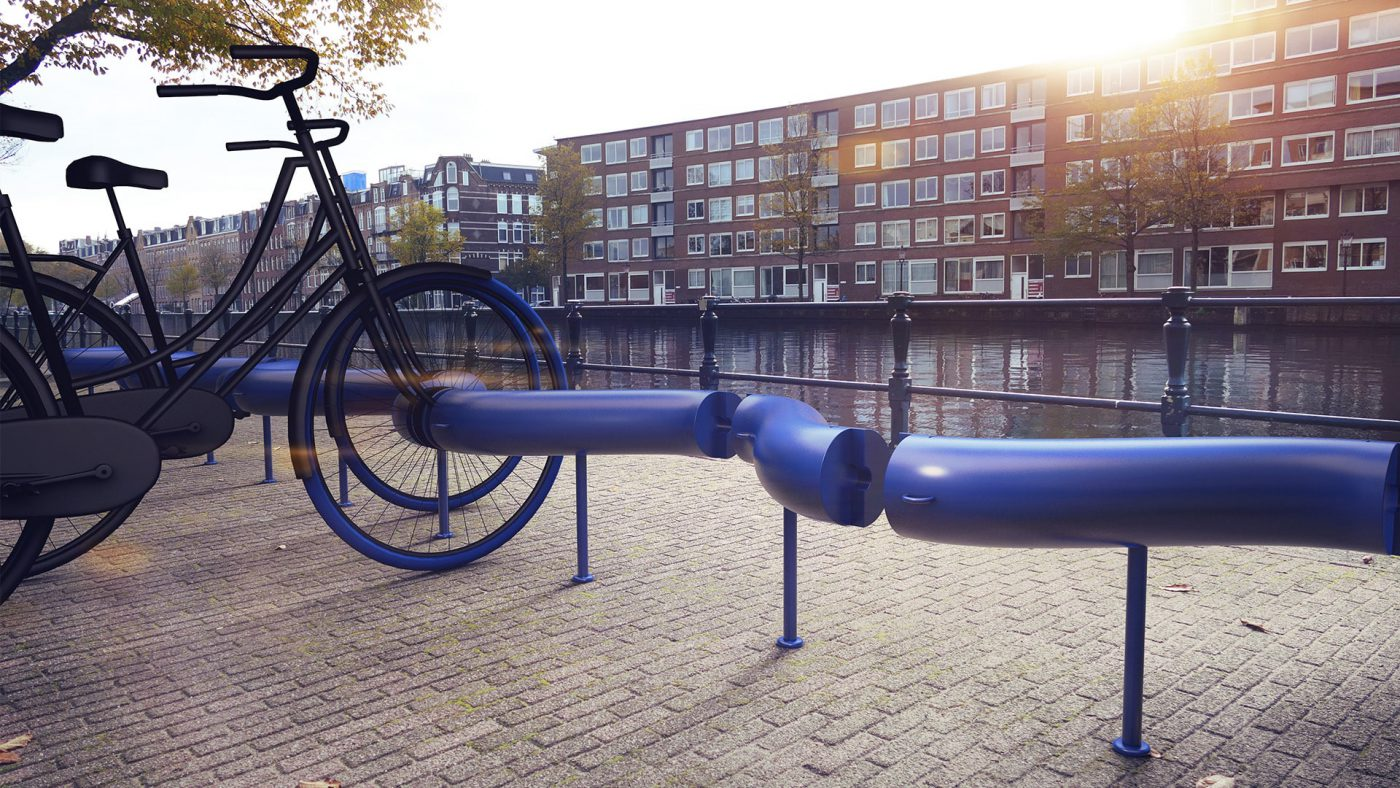 Tento stojan na kola dokáže sbírat energii, kterou cyklisté vyrobili jízdou na kole