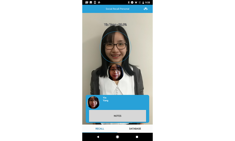 Aplikace rozpoznávající obličeje pomáhá lidem zapamatovat si obličeje na akcích