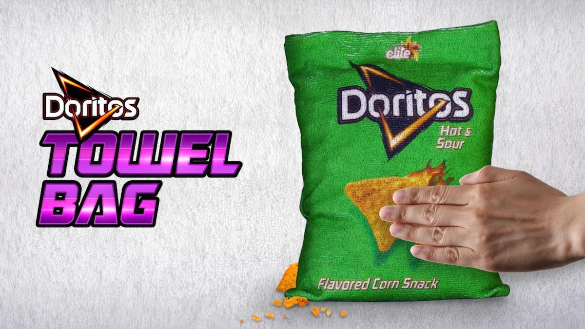 Doritos pomáhá udržovat čisté ruce díky utěrkám ve tvaru Doritos sáčku