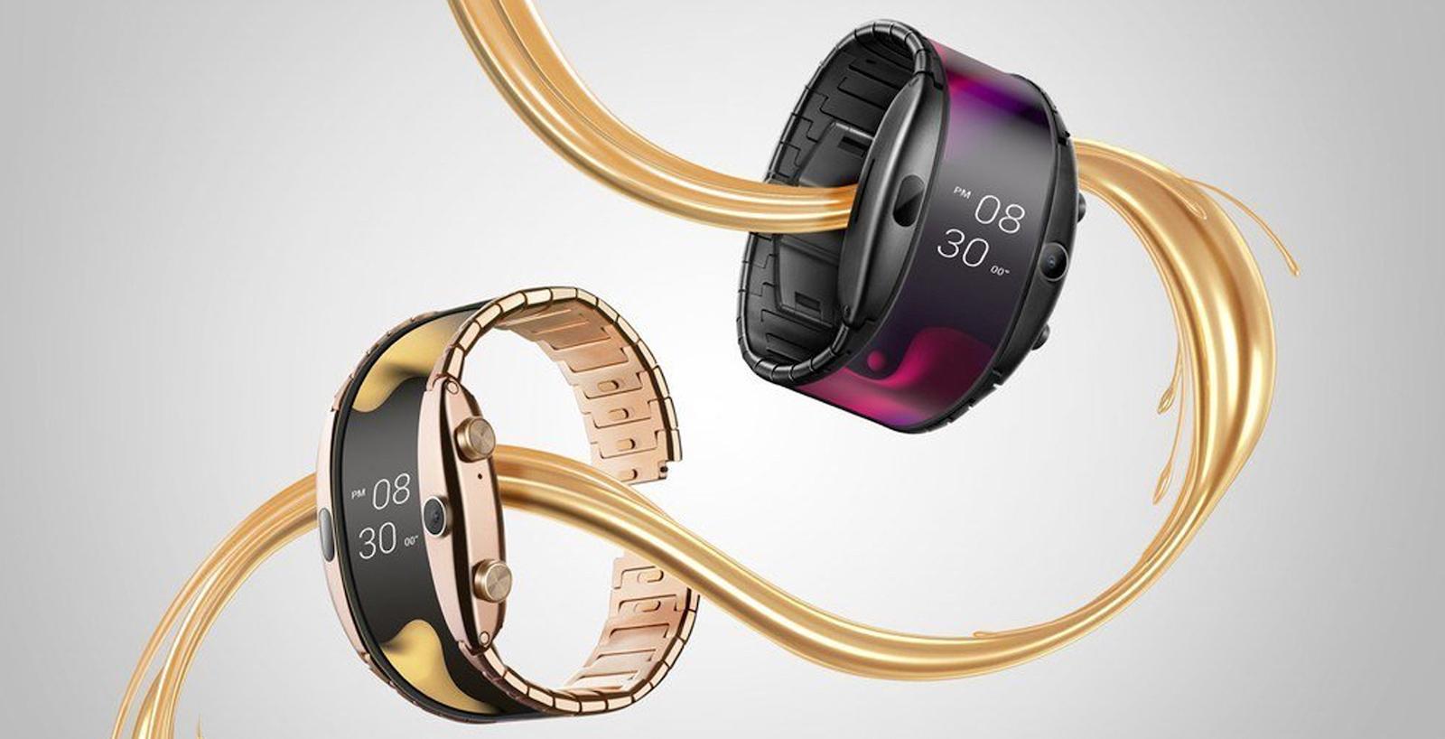Čínská technologická společnost představuje chytré hodinky Nubia Alpha s ohebným displejem