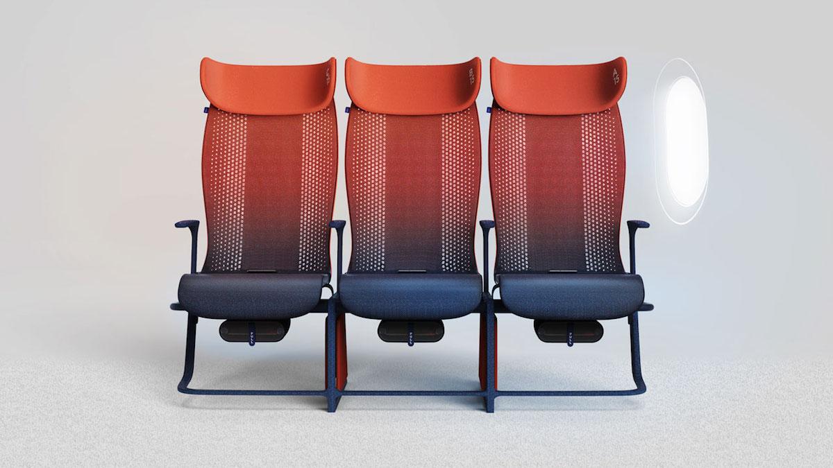 Chytrá sedadla do letadel od studia Layer nabízí pohodlnější let