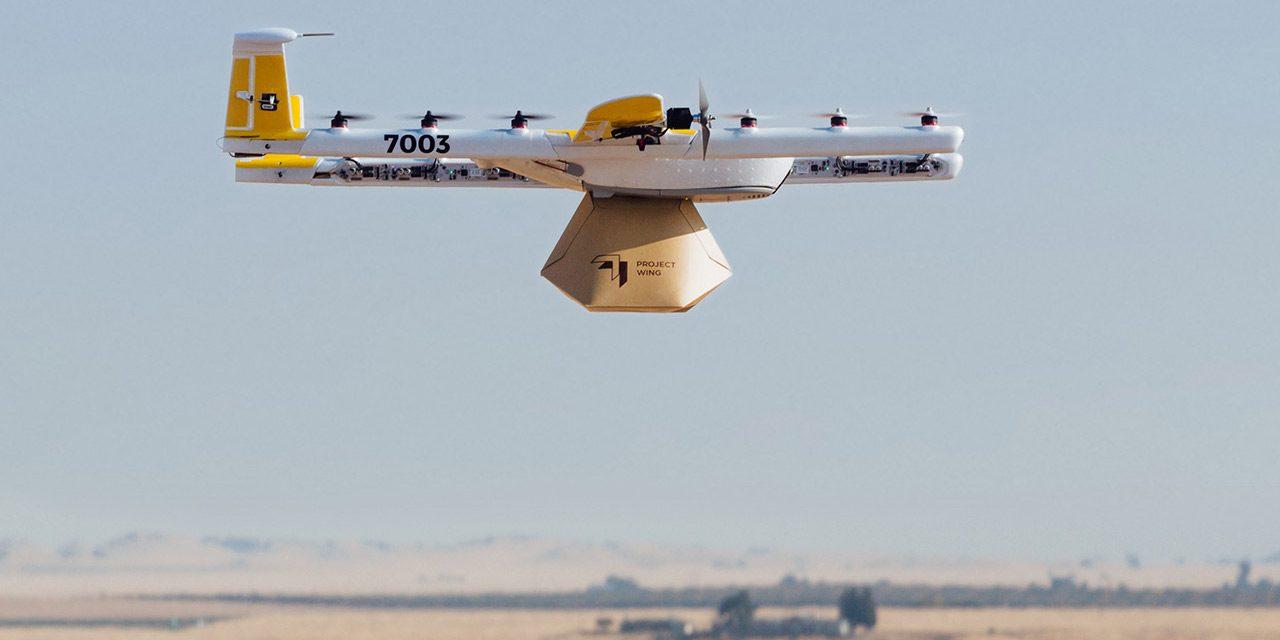Google spustil v Austrálii donášku pomocí dronů