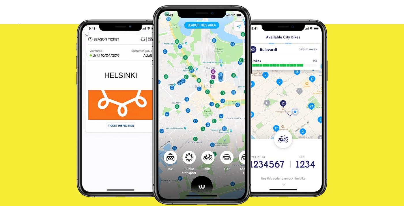 Aplikace Whim sdružuje všechny druhy dopravy v jednom