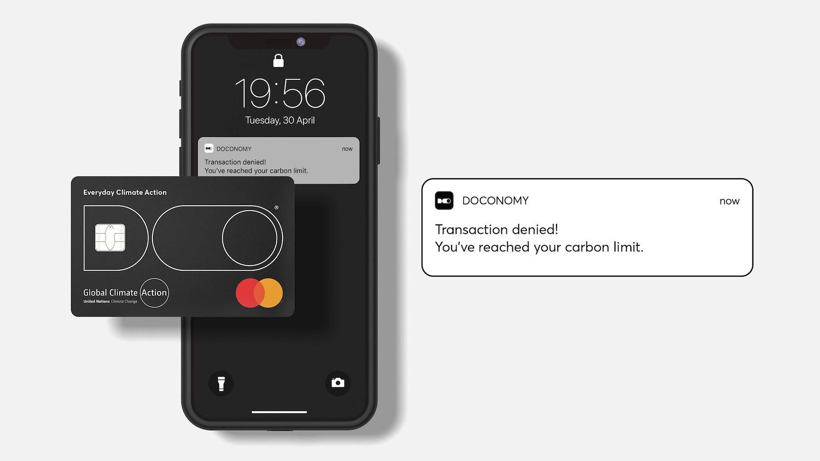 Kreditní karta od Doconomy sleduje uhlíkovou stopu z každého nákupu