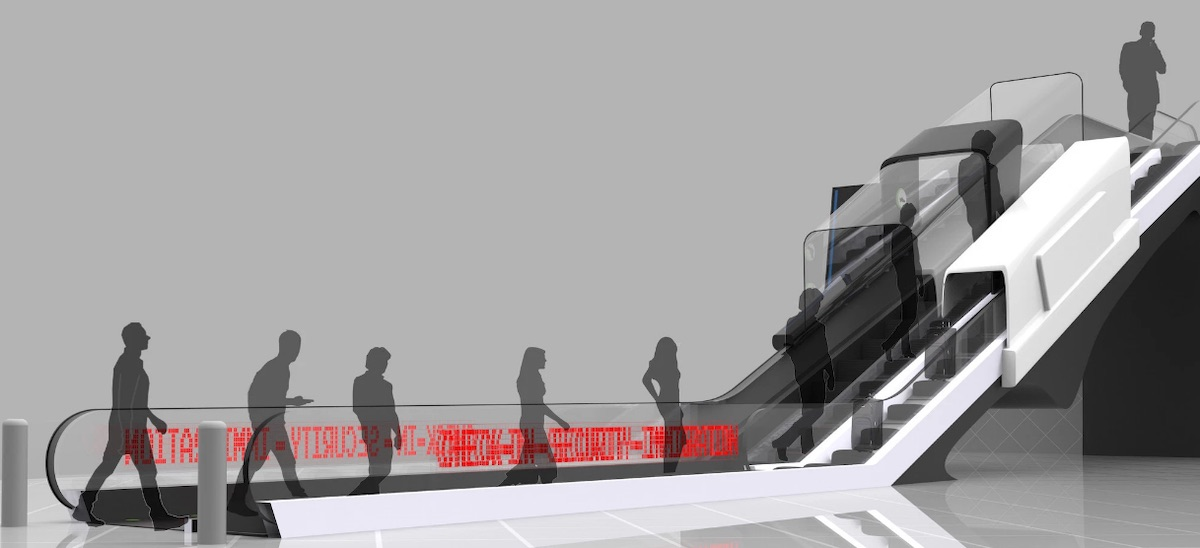 Eskalátor Aerochk dokáže odbavovat cestojící a eliminovat fronty na letištích