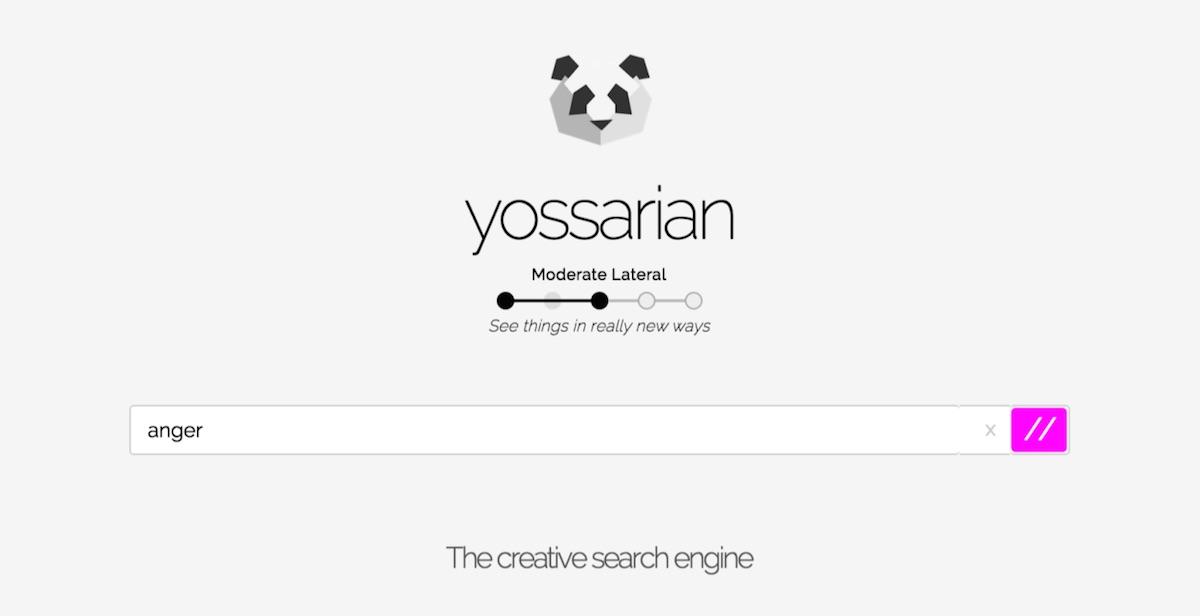 Yossarian je metaforický vyhledávač, který podporuje kreativitu