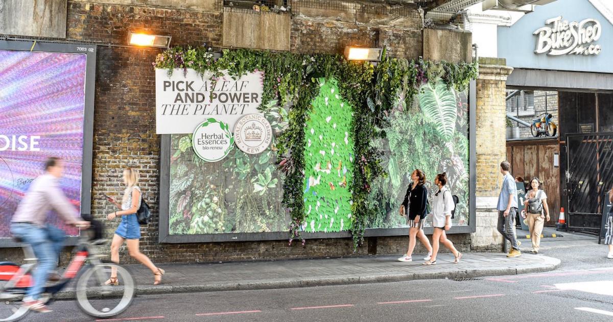 Značka Herbal Essences vytvořila billboard, jehož listí můžete zasadit