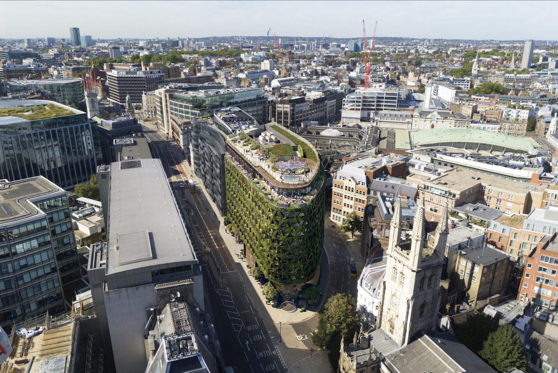 Nová zelená budova v Londýně bude pokrytá 400 000 rostlinami