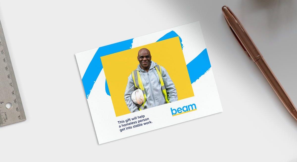 Beam umožňuje lidem, aby bezdomovcům darovali školení k získání nové práce