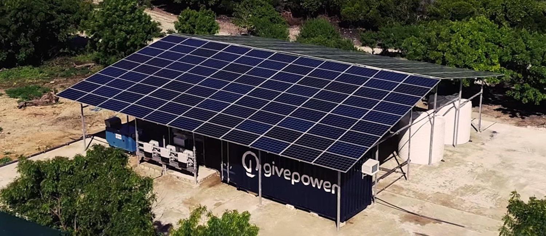 GivePower otevřel v Keni solární vodní farmu