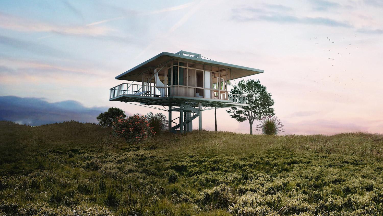 Prefabrikované domy Stilt Studio lze snadno sestavovat a převážet