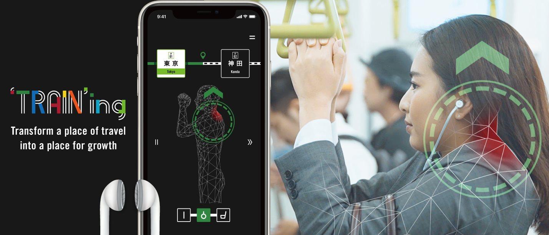 Japonská aplikace 'TRAIN'ing mění cestu vlakem v plnohodnotný fitness zážitek